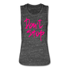 Don't Stop Limited Edition Neon Pink Women's Workout Gym Flowy Muscle Tank - black marble