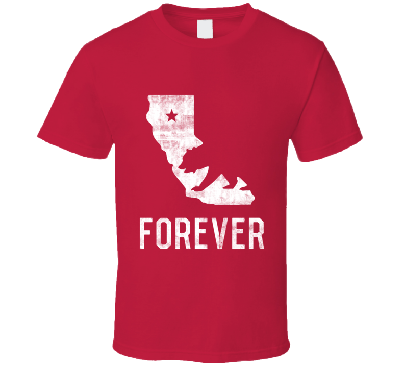 California Forever Love Patriotic State Flag T Shirt - Tees Happen
