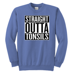 Straight Outta Tonsils Funny Tonsillectomy Post Surgery Operation T-Shirt