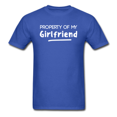 Property of My Girlfriend Funny Couple Relationship T-Shirt - royal blue