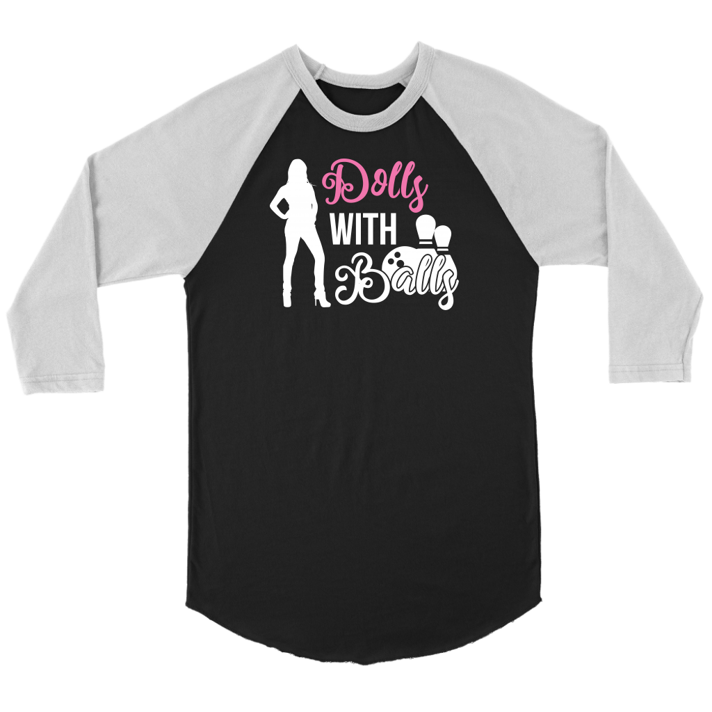 Dolls With Balls Funny Bowling League Sports Tournament Womens T-Shirt