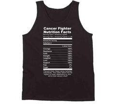 Cancer Fighter Nutrition Fact Label Amazing Survivor Awareness T Shirt - Tees Happen