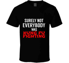Surely Not Everybody Was Kung Fu Fighting T Shirt - Tees Happen