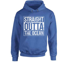 Straight Outta The Ocean Shark Week Fishing Diver Animal Sea Life T Shirt - Tees Happen