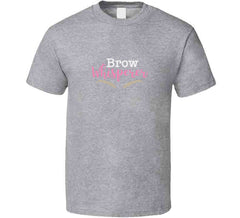 Brow Whisperer Ladies Esthetician Eyebrow Professional Beauty Makeup Artist T-shirt
