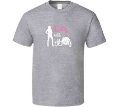 Dolls With Balls Matching Tennis Sports Team League Ladies Tournament T-shirt