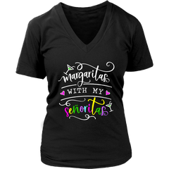 Margaritas With My Senoritas Funny Siesta Party Ladies Drinking Bachelorette T-Shirt - Tees Happen