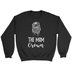 The Mom Crown Cute Messy Mom Bun Life T-Shirt