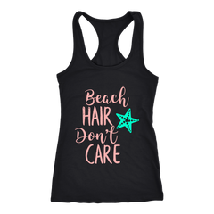 Beach Hair Don't Care Summer Vacation Beach Bum T-Shirt - Tees Happen