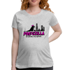 Pregzilla - Be Afraid, Very Afraid Funny Pregnancy Women's Maternity T-Shirt - heather gray