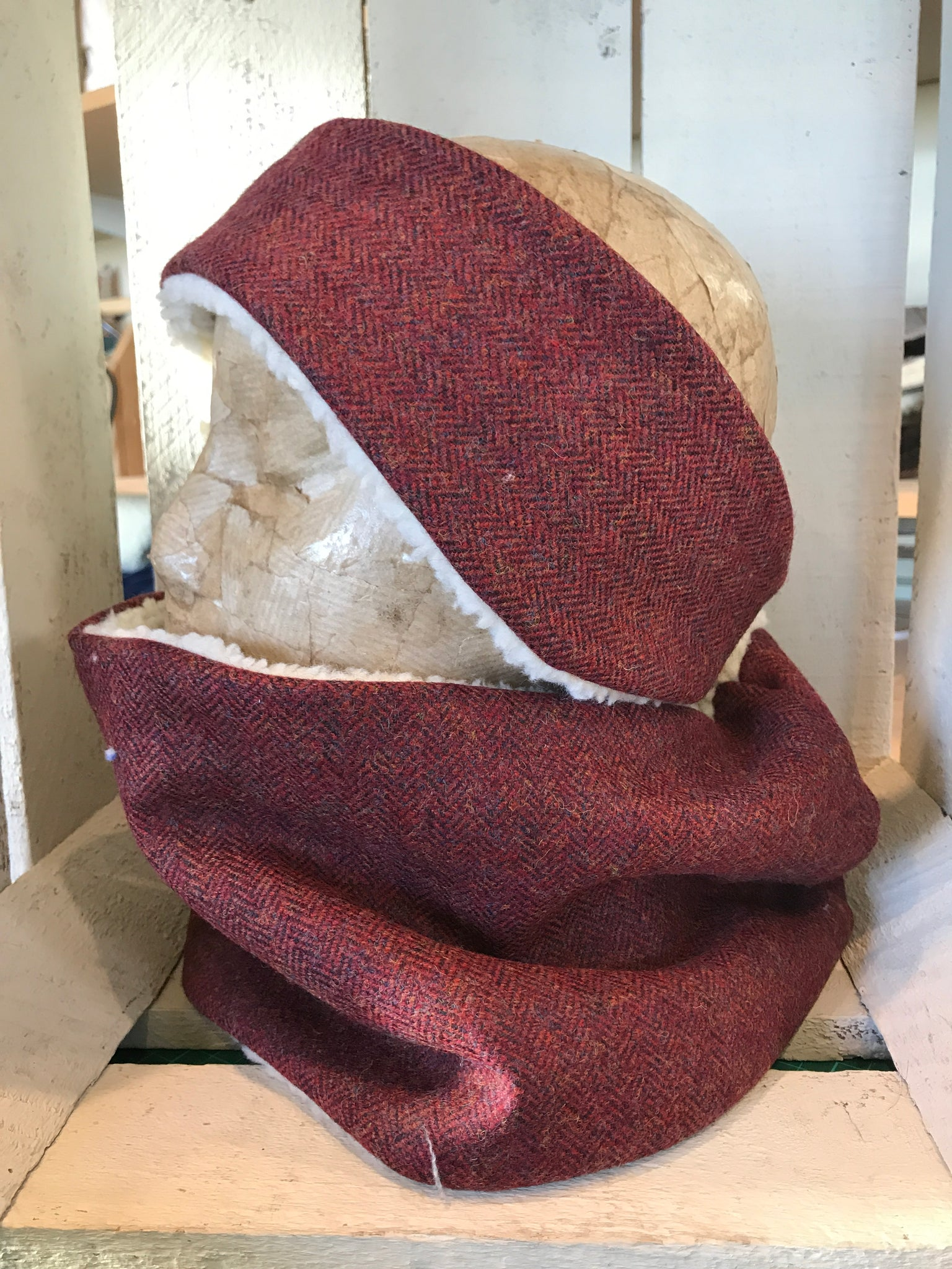 Classic Tweed Headband - Red Kite