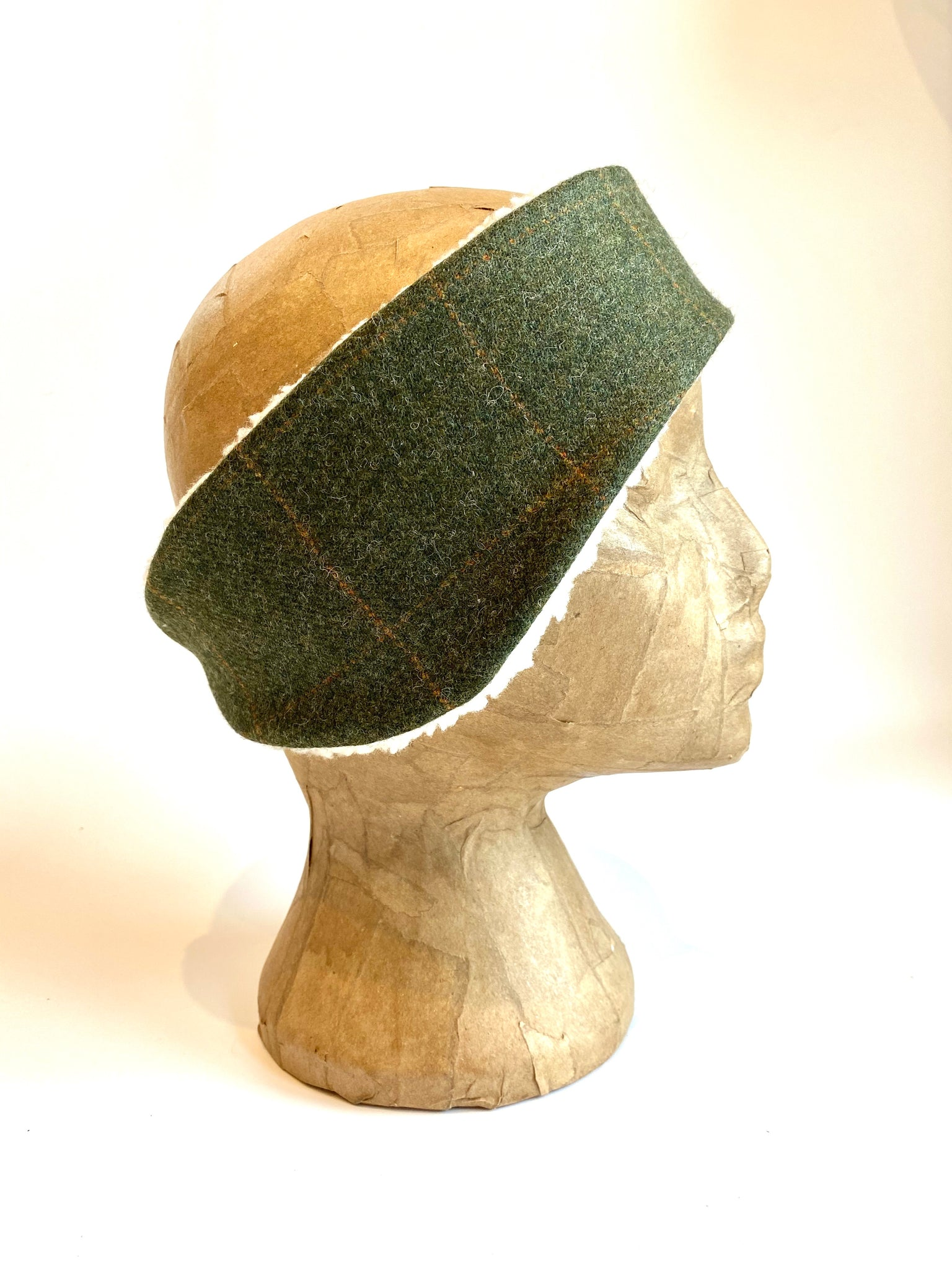 Classic Tweed Headband - Loden green