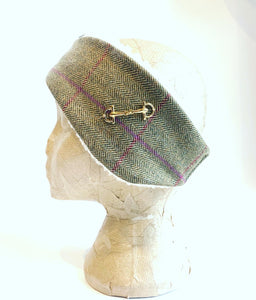 Luxury tweed and snaffle headband - Gurston
