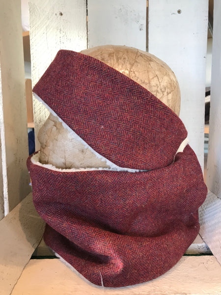 Tweed Headband & Snood Set