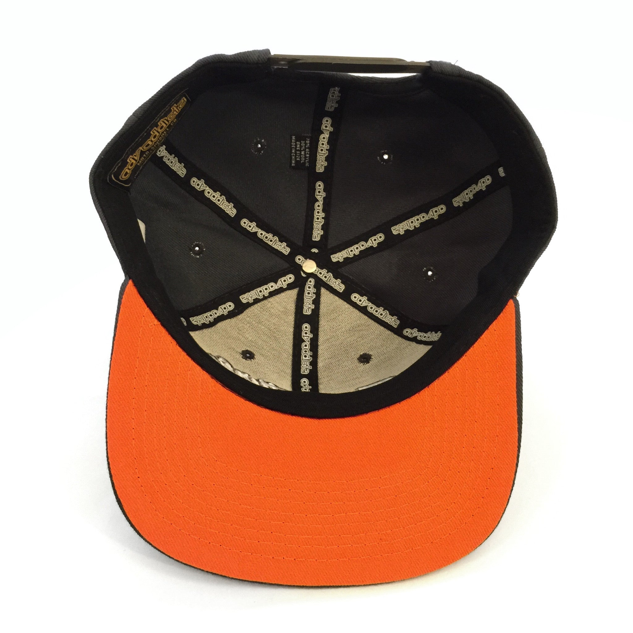 RAMBLE SNAP BACK - Charcoal / Orange