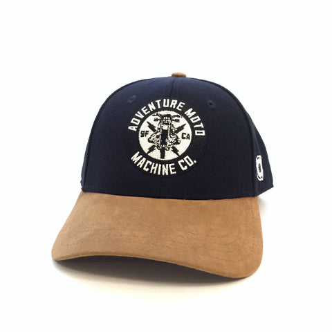 JAUNT SNAP BACK - Navy/Suede