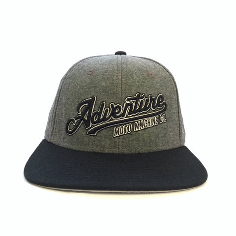 RAMBLE SNAP BACK - Black Oxford