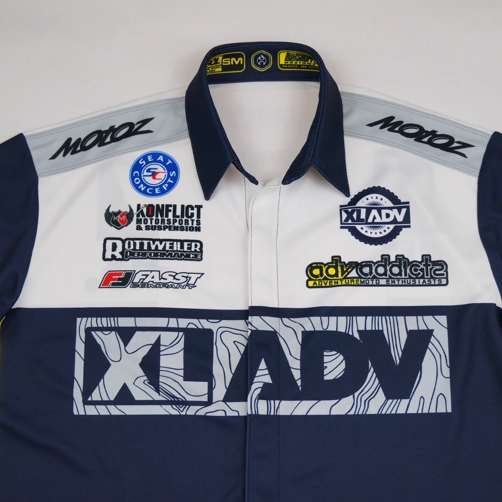 XLADV ADV ADDICTS FACTORY RACING CREW SHIRT