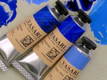 King's Blue, Ultramarine Blue, Phthalo Blue
