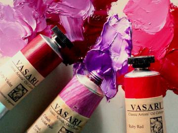 Ruby Violet, Cobalt Violet Pale, Ruby Red