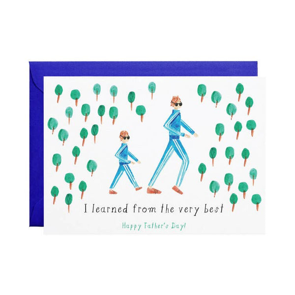 Like Father, Like Son - Greeting Card