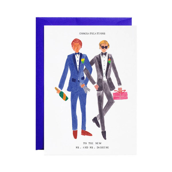 Mr and Mr Dashing - Greeting Card