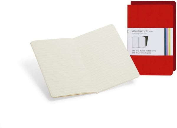Moleskine Volant Notebook (Set of 2) - Ruled - Various Colors & Sizes