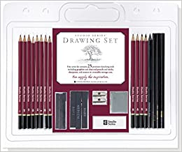 Studio Series 25-Piece Sketch & Drawing Pencil Set (Artist's Pencil & Charcoal Set)