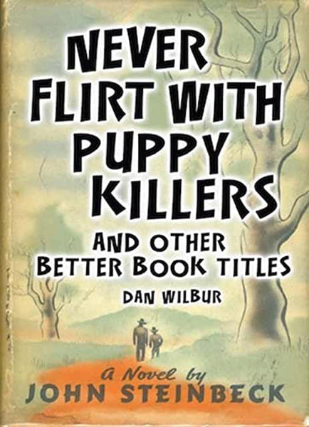 Never Flirt with Puppy Killers: And Other Better Book Titles by Dan Wilbur (Hardcover)
