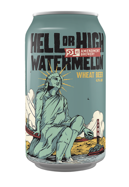 Hell or High Watermelon (12oz Can) - 21st Amendment Brewery
