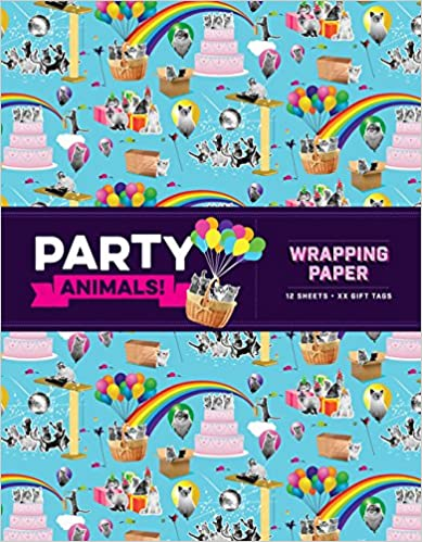 Party Animals! Wrapping Paper & Gift Tags