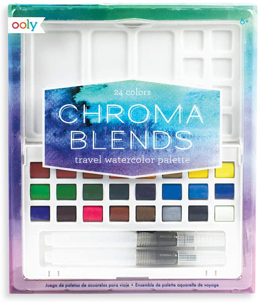 Chroma Blends Travel Watercolor Palette - 24 Colors