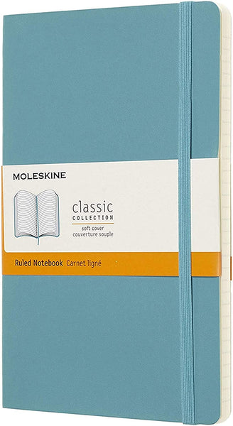 Moleskine Classic Notebook - Ruled, Soft Cover - Various Sizes & Colors