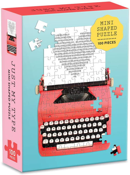 Mini Jigsaw Puzzle, Vintage Typewriter, 100-Pieces
