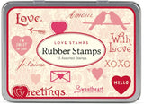 Rubber Stamps Set - Love