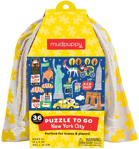 New York City Puzzle to Go, 36 Pieces by Mudpuppy