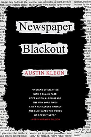 Newspaper Blackout by Austin Kleon (Paperback)