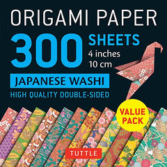 "Origami Paper 300 Sheets Japanese Washi Patterns 4"" (10 CM): Tuttle Origami Paper: High-Quality Double-Sided Origami Sheets Printed with 12 Different"