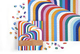 Now House by Jonathan Adler Vertigo 1000 Piece Jigsaw Puzzle, Contemporary Abstract Art Puzzle with a Multitude of Colors in Unique Patterns