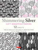 Shimmering Silver Gift Wrapping Papers 12 Sheets: High-Quality 18 x 24 inch Wrapping Paper
