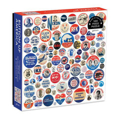 Button Up America Puzzle - 500 Piece Jigsaw Puzzle