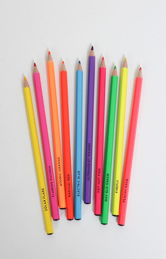 Bright Ideas Neon Colored Pencils – Q.E.D. Astoria