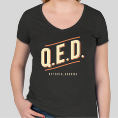 QED V-Neck T-Shirt - Women's - Black Heather or Turquoise