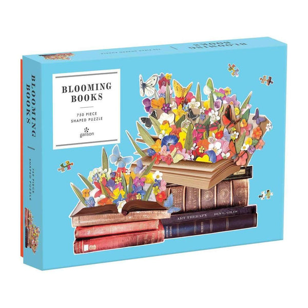 "750 Piece Shaped Puzzle ""Blooming Books"""