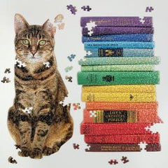 Queen of the Stacks - Shaped Jigsaw Puzzle Set