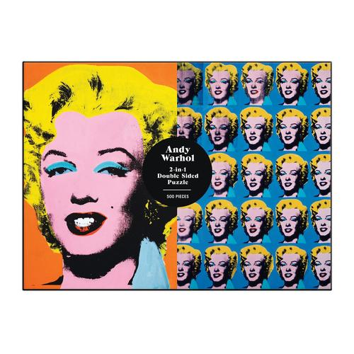 Andy Warhol Marilyn 500 Piece Double Sided Puzzle