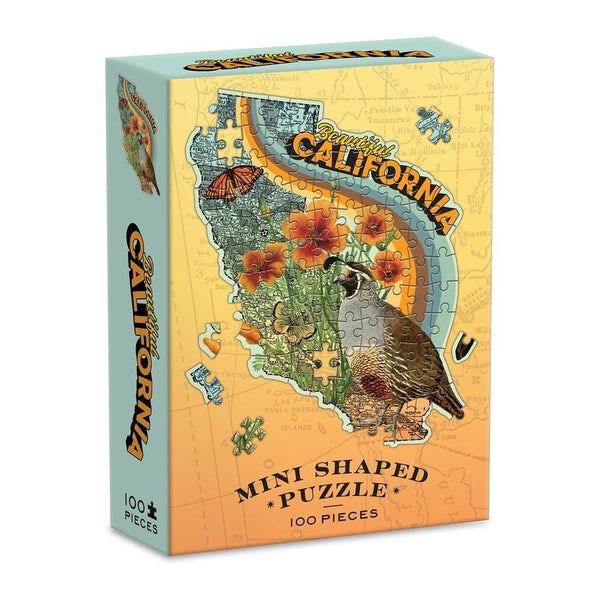 California Mini Shaped 100-Piece Puzzle