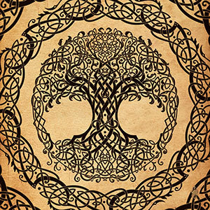 Tree of Life with pentacle, celtic design and pagan symbol art by Abysm Internal