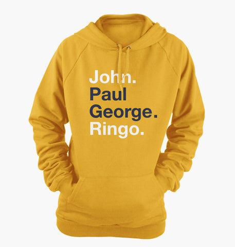 John Paul George Ringo Hoodie (Yellow)