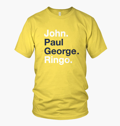 John Paul George Ringo (Yellow)